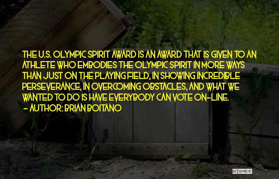 Perseverance And Overcoming Obstacles Quotes By Brian Boitano