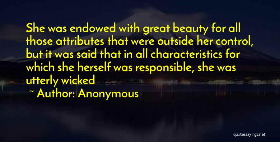 Personality And Appearance Quotes By Anonymous