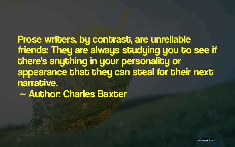Personality And Appearance Quotes By Charles Baxter