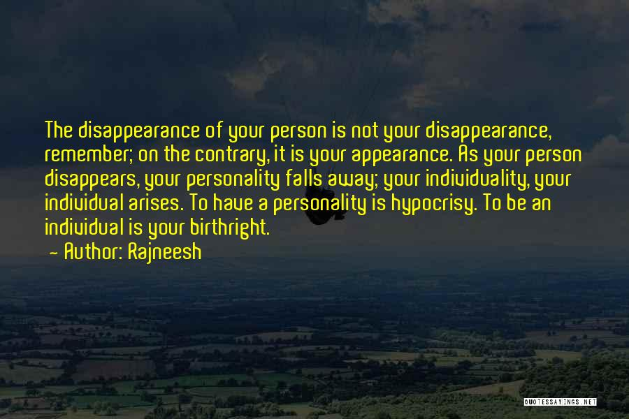 Personality And Appearance Quotes By Rajneesh