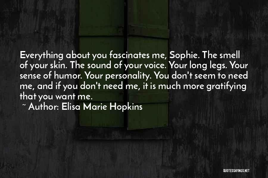 Personality And Love Quotes By Elisa Marie Hopkins