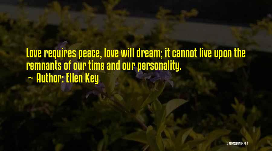 Personality And Love Quotes By Ellen Key