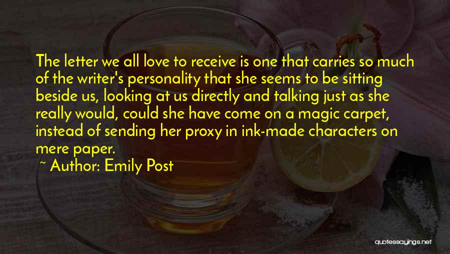 Personality And Love Quotes By Emily Post
