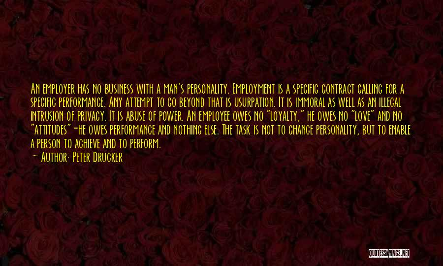 Personality And Love Quotes By Peter Drucker