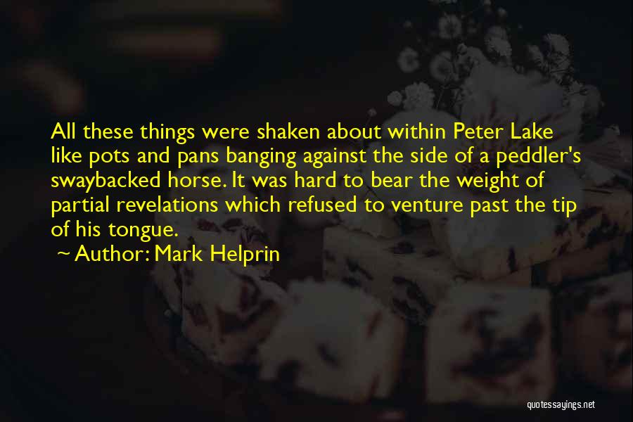 Peter Pans Quotes By Mark Helprin