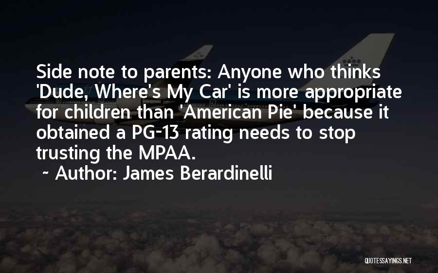 Pg-13 Quotes By James Berardinelli