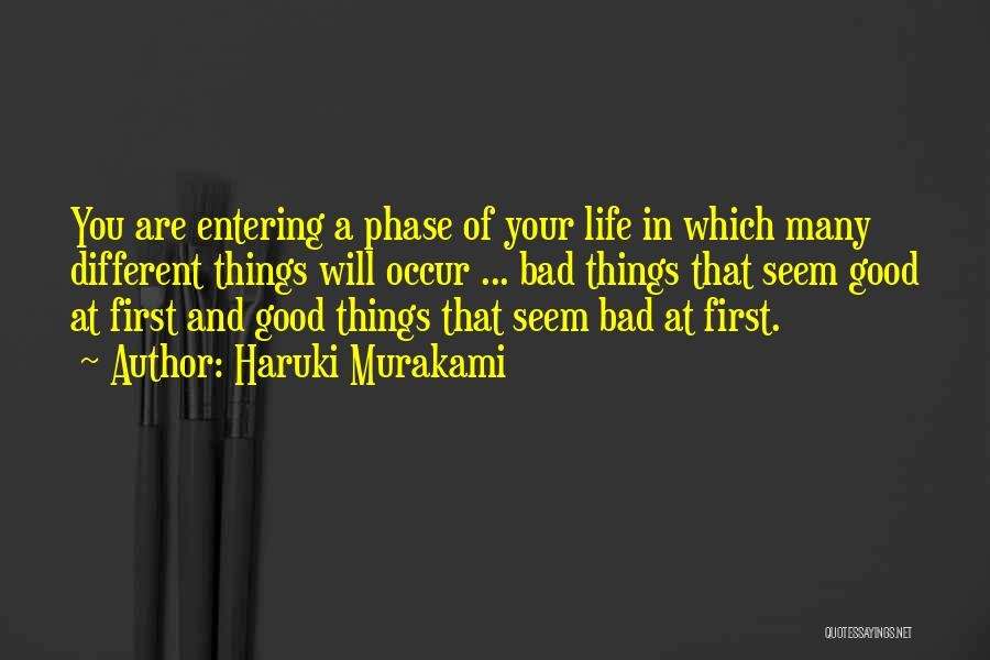 Phase Of Life Quotes By Haruki Murakami