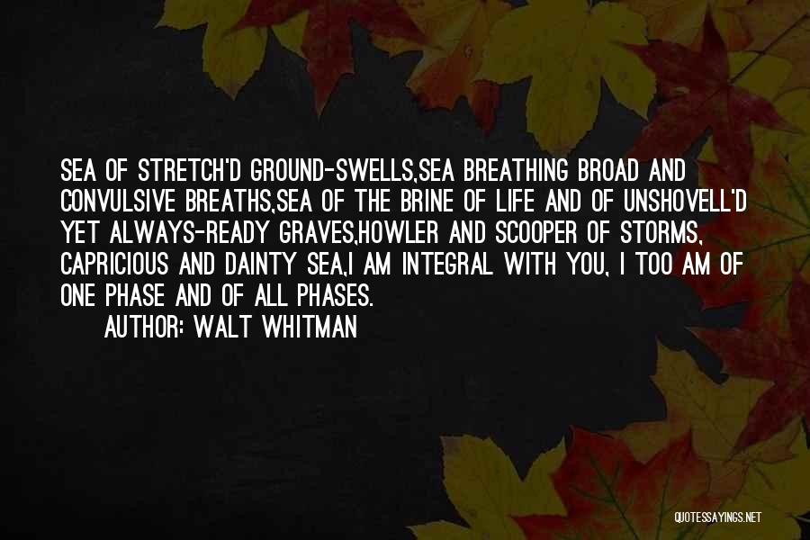 Phase Of Life Quotes By Walt Whitman