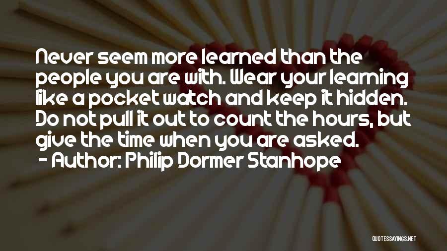 Philip Dormer Stanhope Quotes 1737352