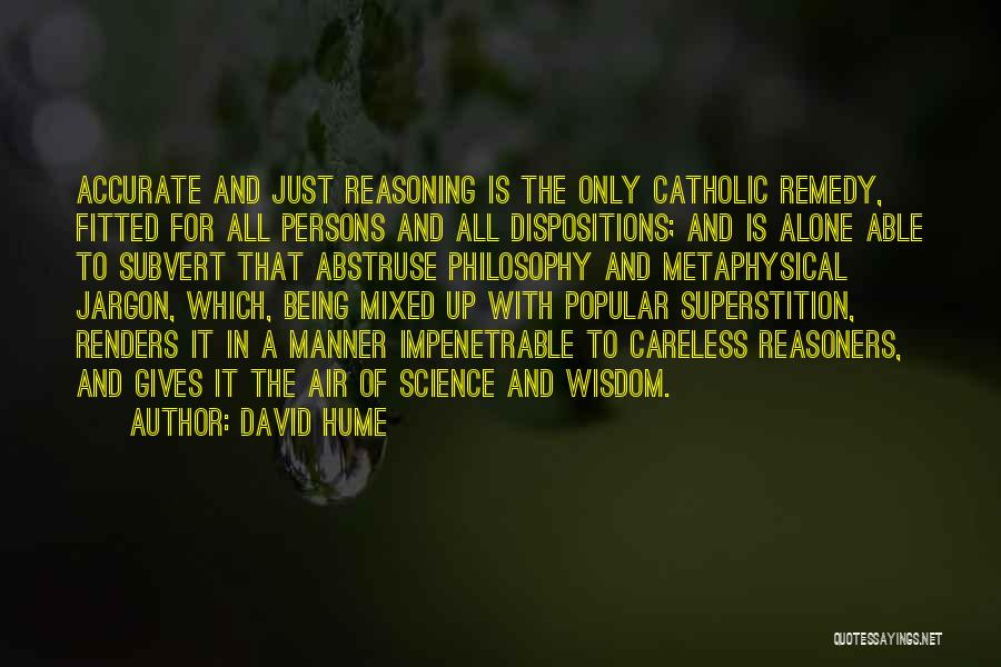 Philosophy And Science Quotes By David Hume