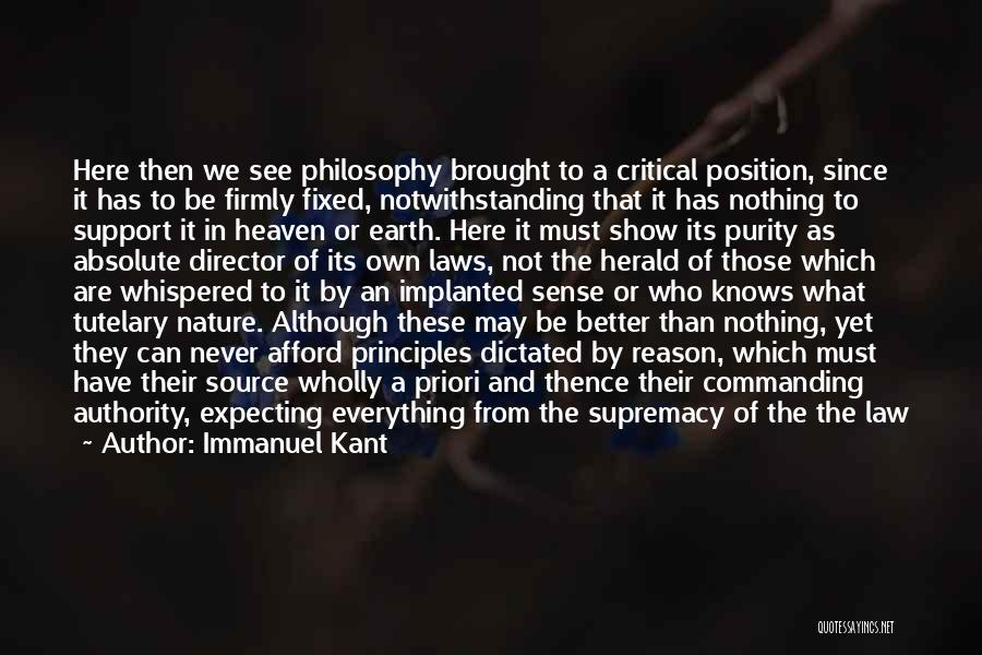 Philosophy And Science Quotes By Immanuel Kant