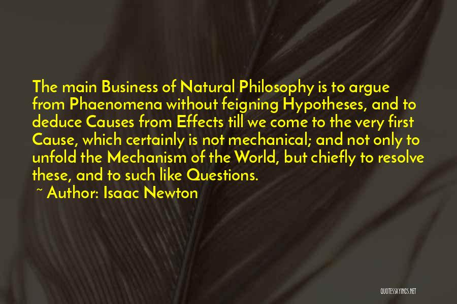 Philosophy And Science Quotes By Isaac Newton
