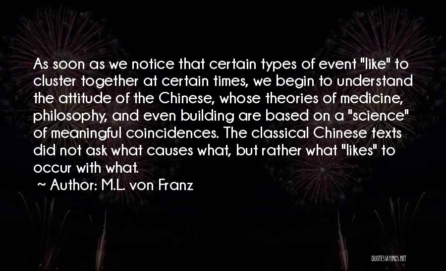 Philosophy And Science Quotes By M.L. Von Franz