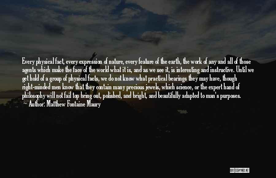 Philosophy And Science Quotes By Matthew Fontaine Maury