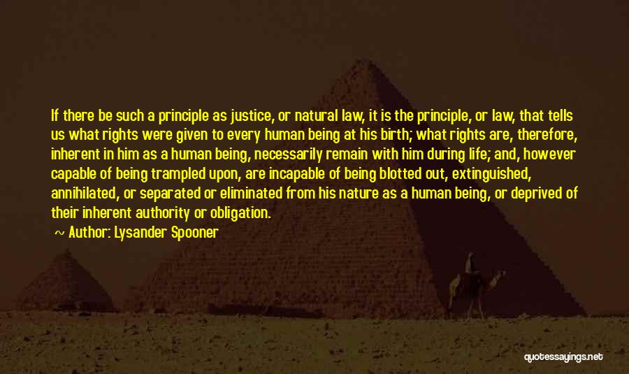 Philosophy Law Quotes By Lysander Spooner