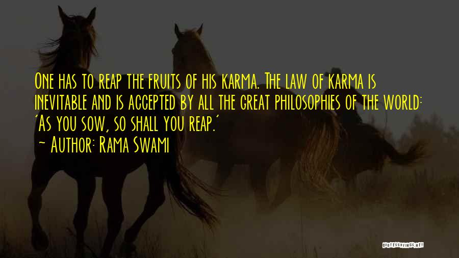 Philosophy Law Quotes By Rama Swami