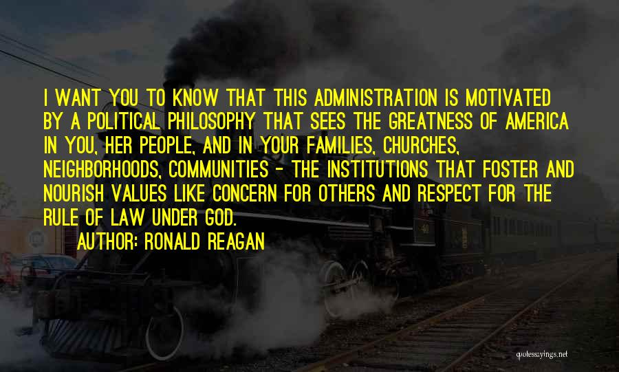 Philosophy Law Quotes By Ronald Reagan
