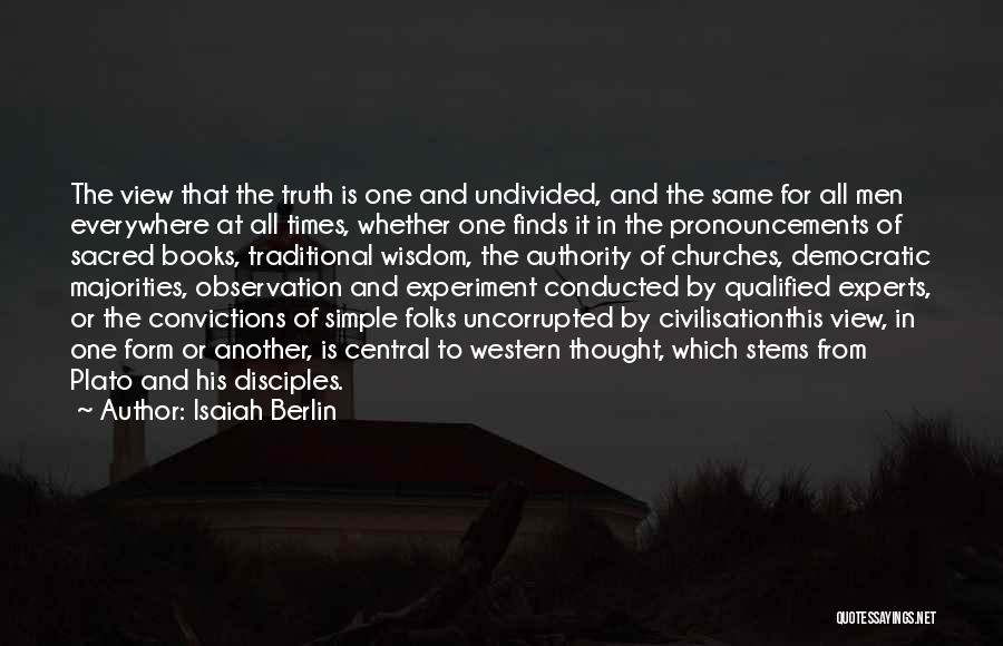 Philosophy Plato Quotes By Isaiah Berlin