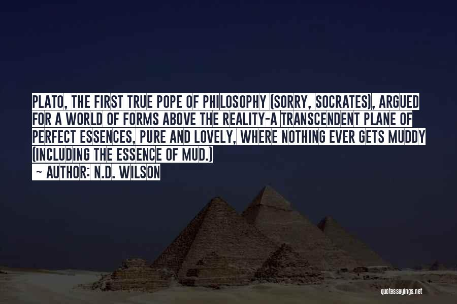 Philosophy Plato Quotes By N.D. Wilson