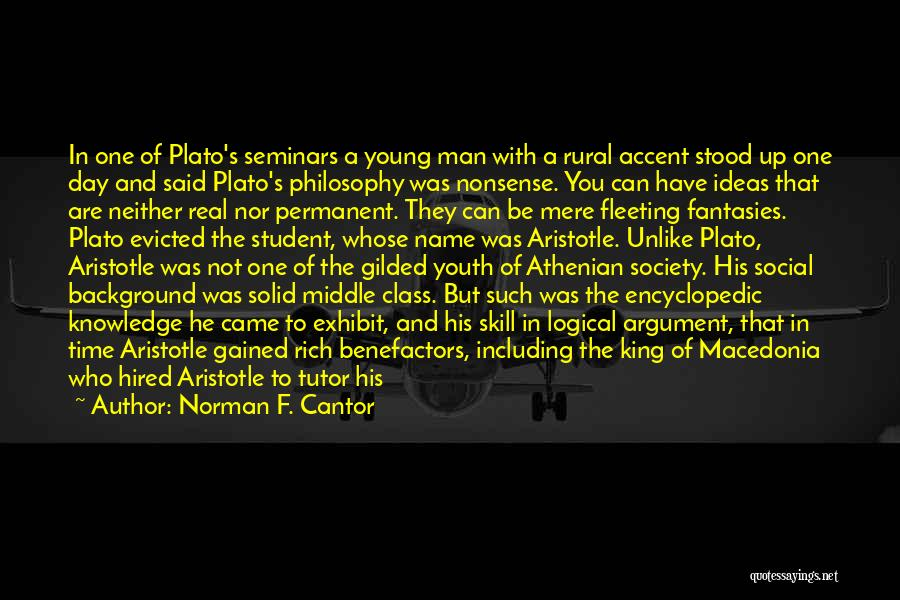 Philosophy Plato Quotes By Norman F. Cantor
