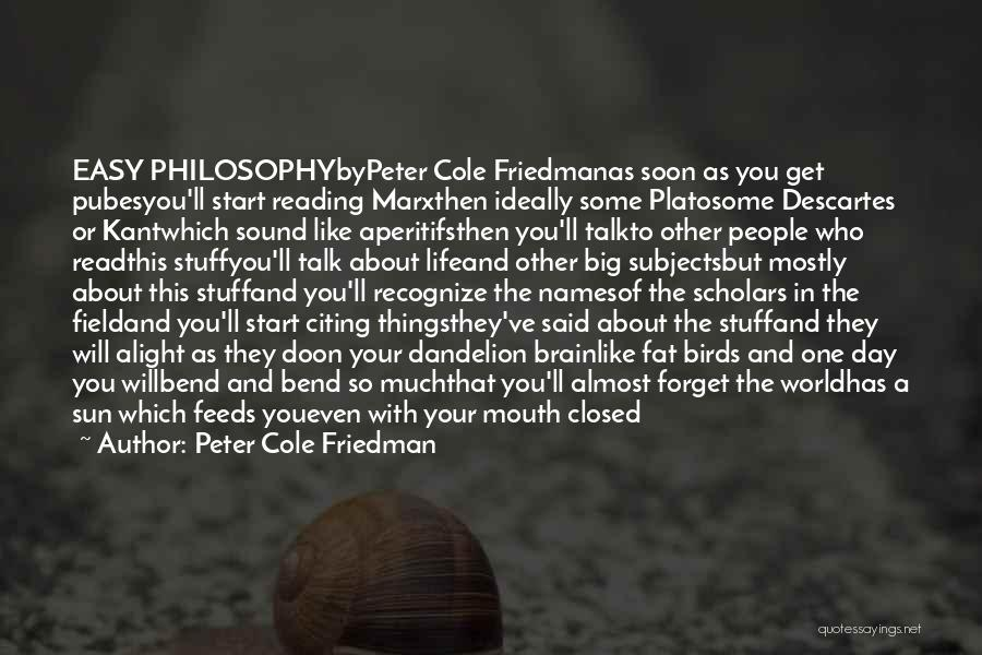 Philosophy Plato Quotes By Peter Cole Friedman