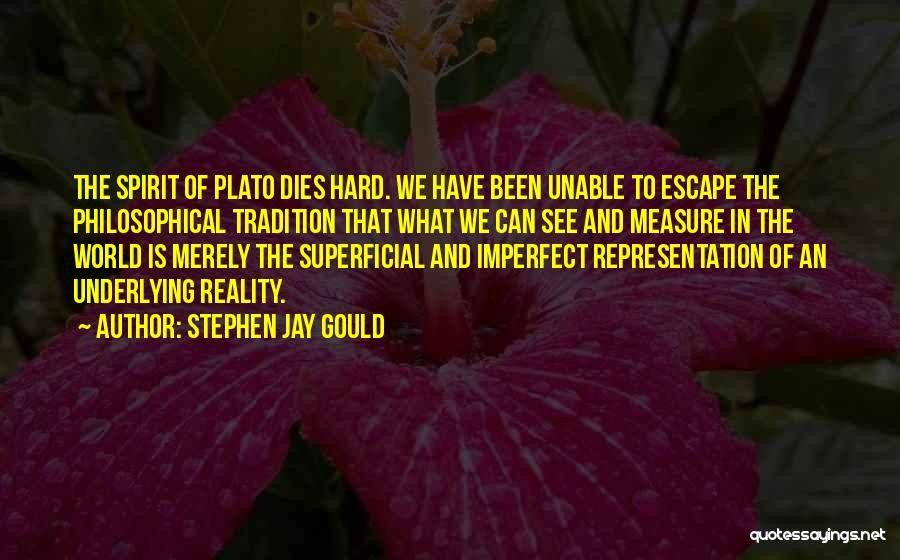 Philosophy Plato Quotes By Stephen Jay Gould