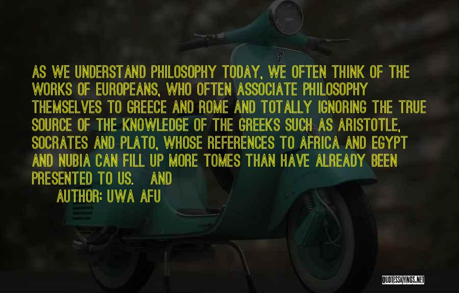 Philosophy Plato Quotes By Uwa Afu
