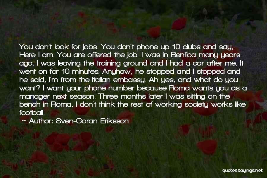 Phone Not Working Quotes By Sven-Goran Eriksson