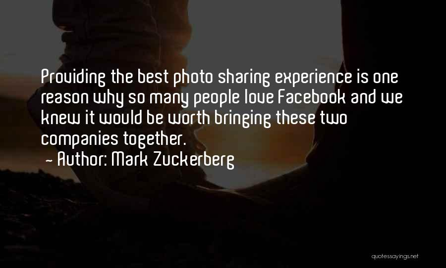 Photo Sharing Quotes By Mark Zuckerberg