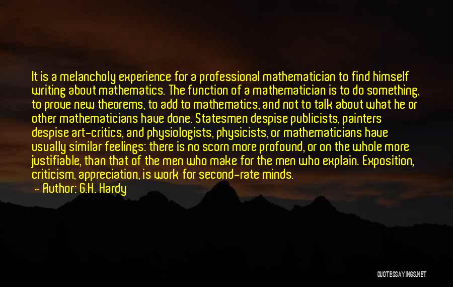 Physicists Quotes By G.H. Hardy