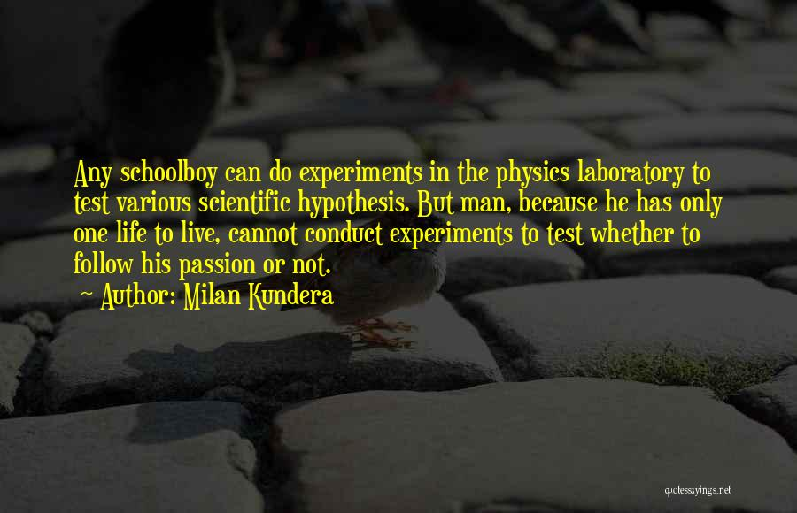 Physics Experiments Quotes By Milan Kundera
