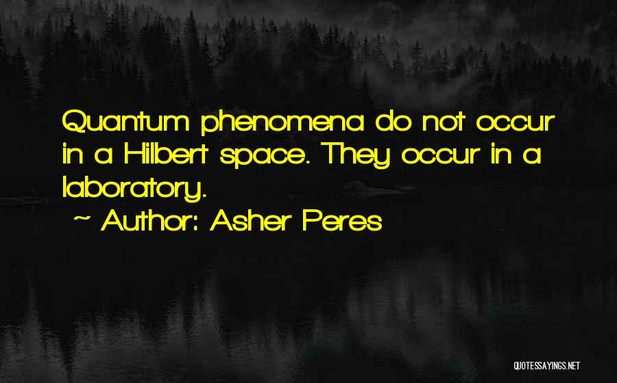 Physics Laboratory Quotes By Asher Peres