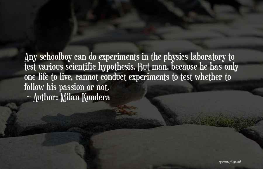 Physics Laboratory Quotes By Milan Kundera