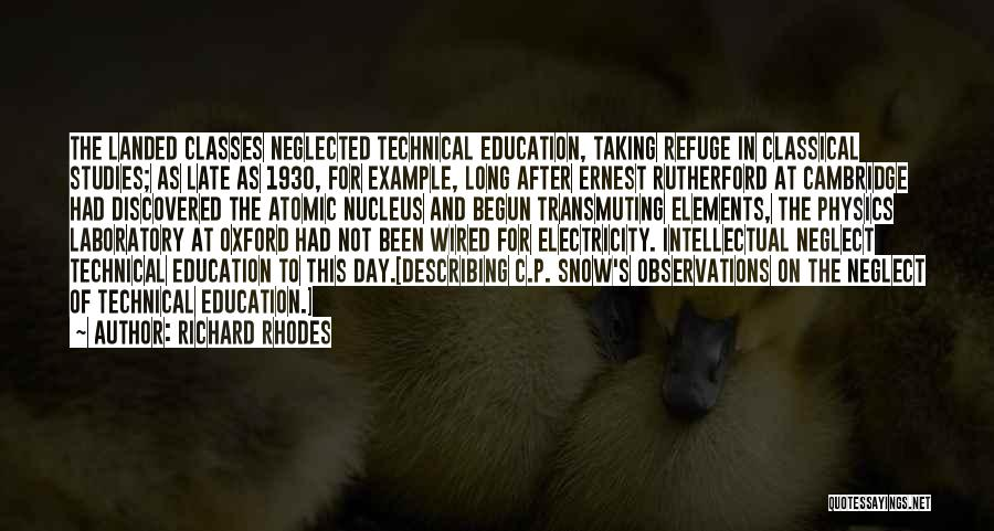 Physics Laboratory Quotes By Richard Rhodes