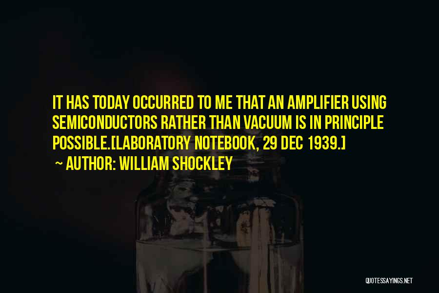 Physics Laboratory Quotes By William Shockley