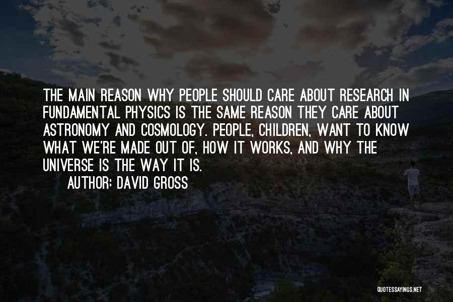 Physics Quotes By David Gross