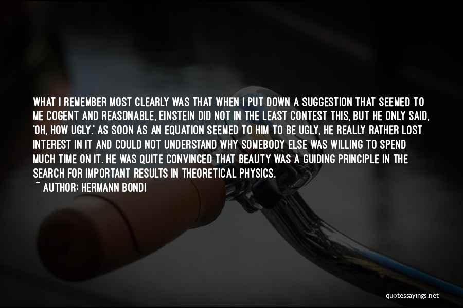 Physics Quotes By Hermann Bondi