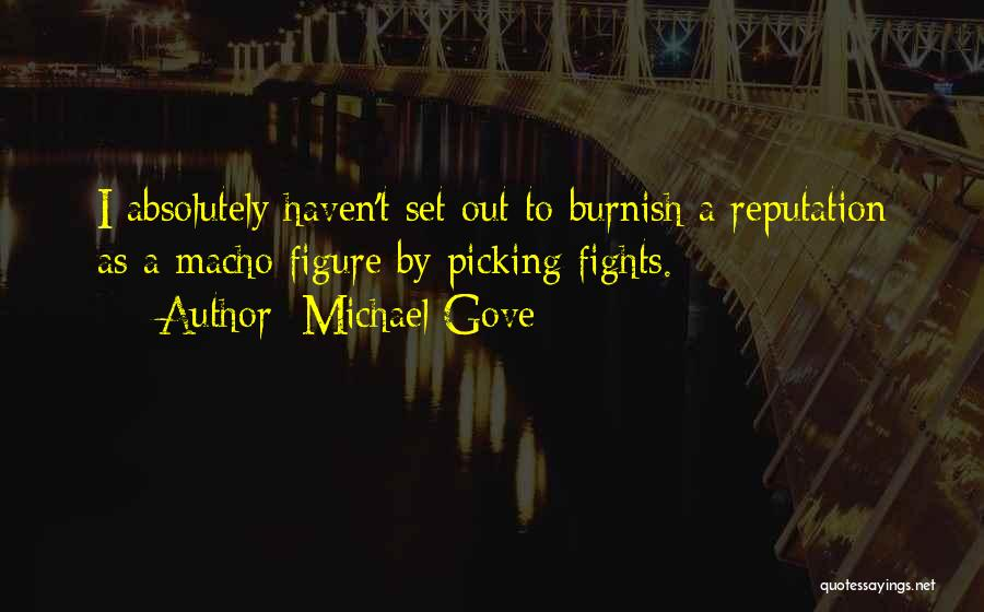 Picking Fights Quotes By Michael Gove