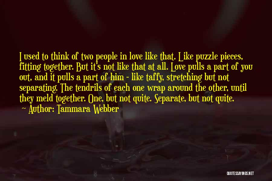 Pieces Fitting Together Quotes By Tammara Webber