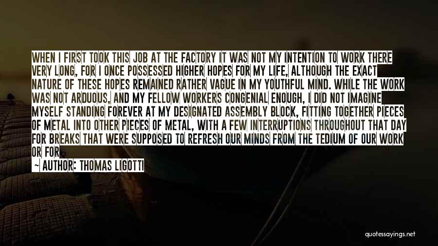 Pieces Fitting Together Quotes By Thomas Ligotti
