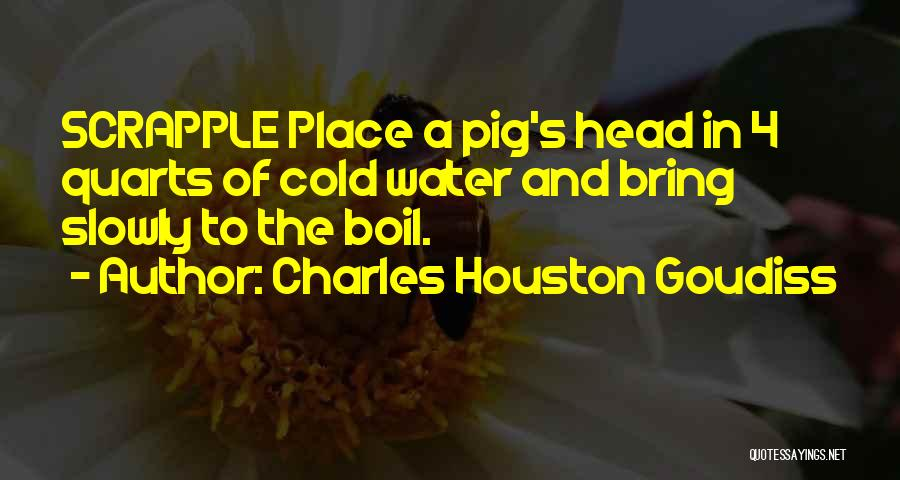 Pig's Head Quotes By Charles Houston Goudiss