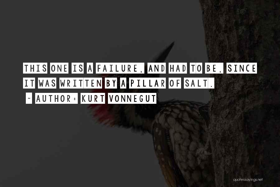 Pillar Of Salt Quotes By Kurt Vonnegut