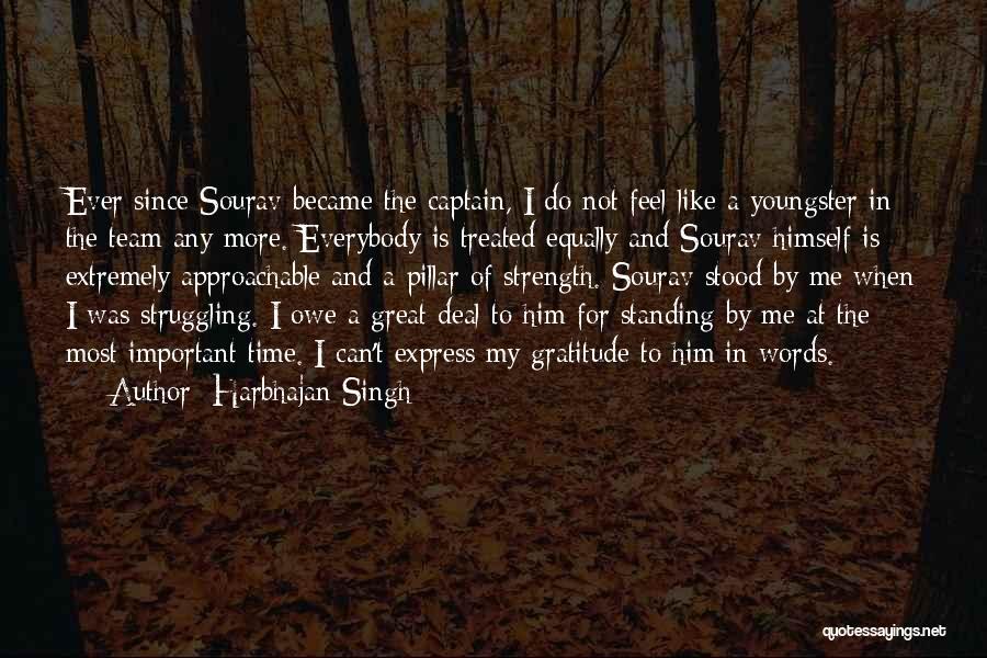Pillar Of Strength Quotes By Harbhajan Singh