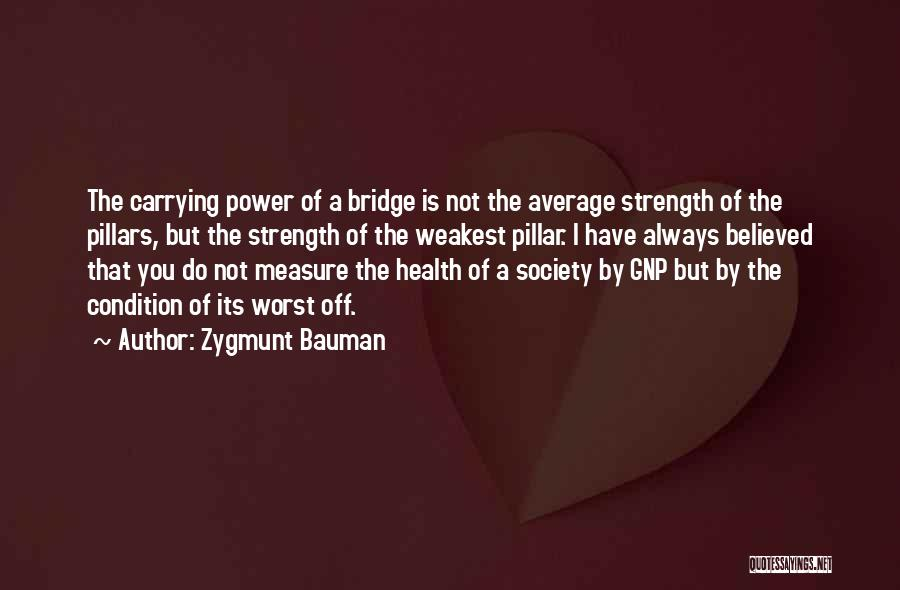 Pillar Of Strength Quotes By Zygmunt Bauman