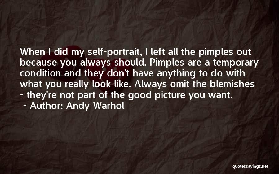 Pimples Quotes By Andy Warhol