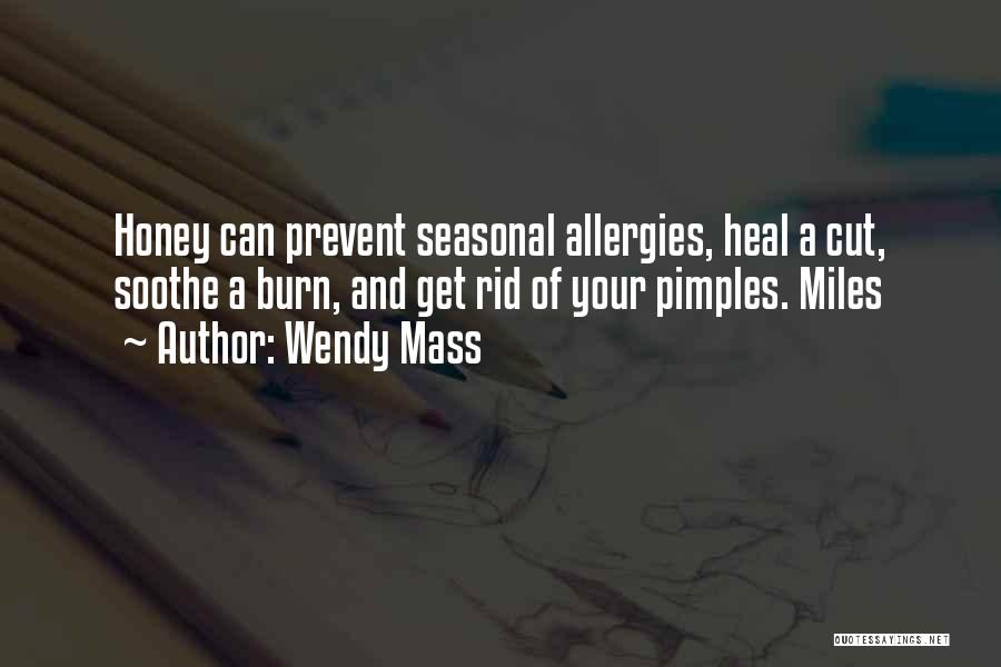 Pimples Quotes By Wendy Mass