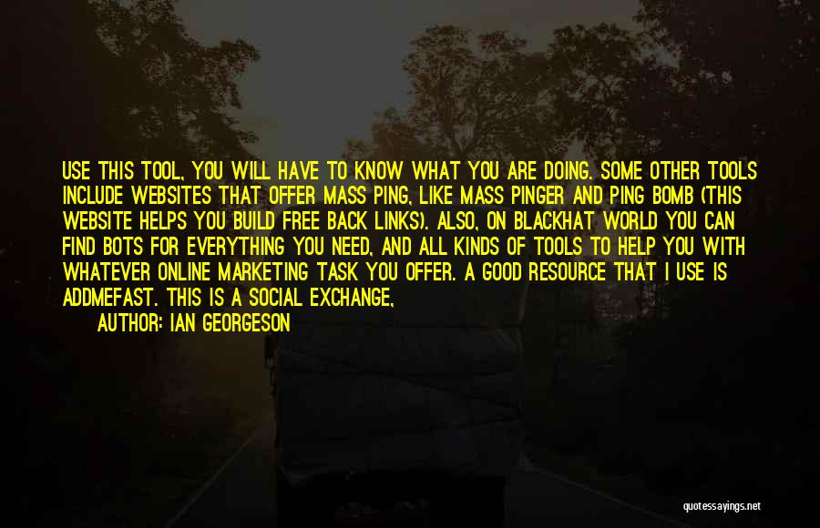 Pinger Quotes By Ian Georgeson