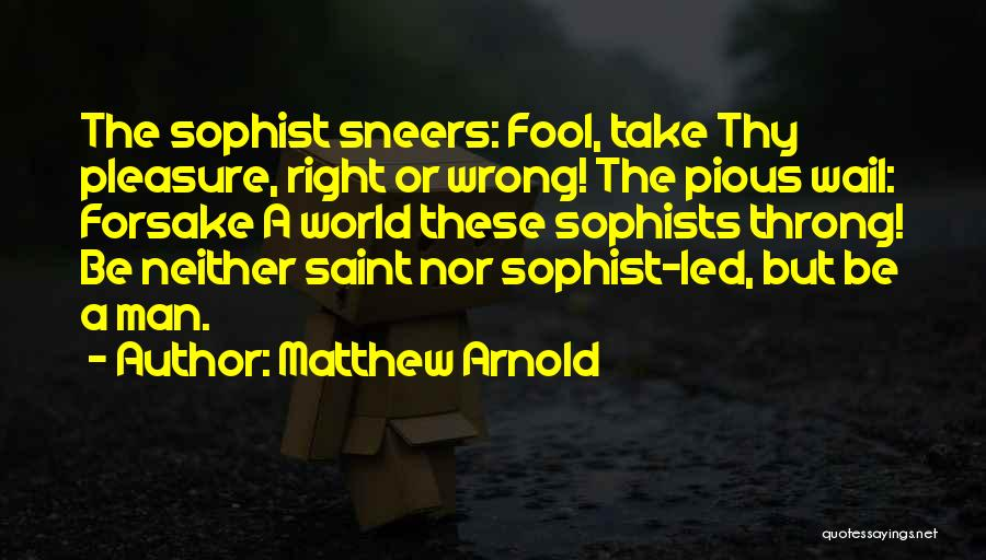 Pious Man Quotes By Matthew Arnold
