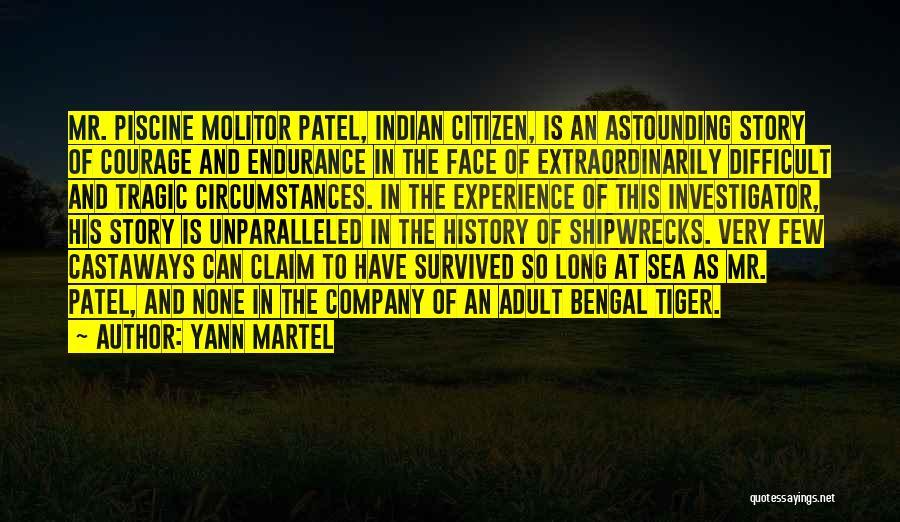 Piscine Molitor Patel Quotes By Yann Martel