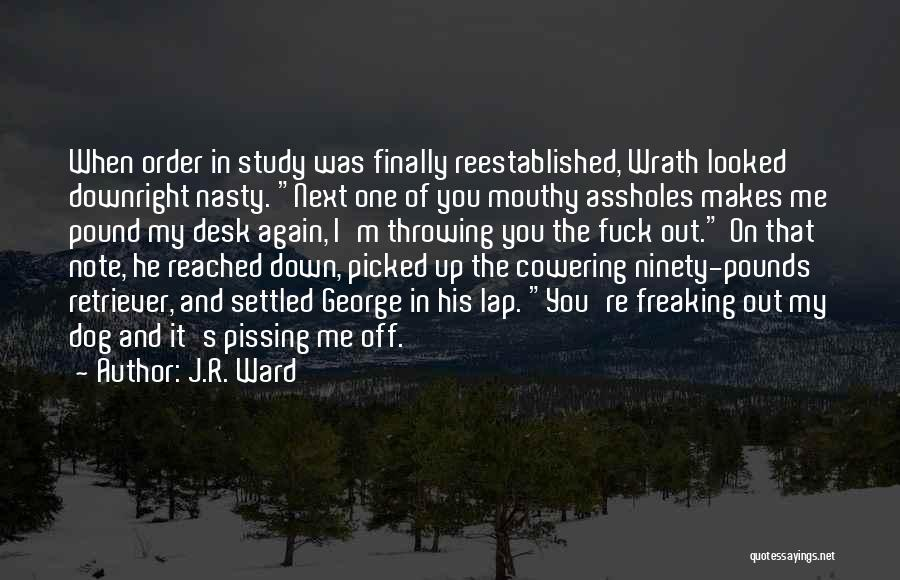 Pissing Me Off Quotes By J.R. Ward